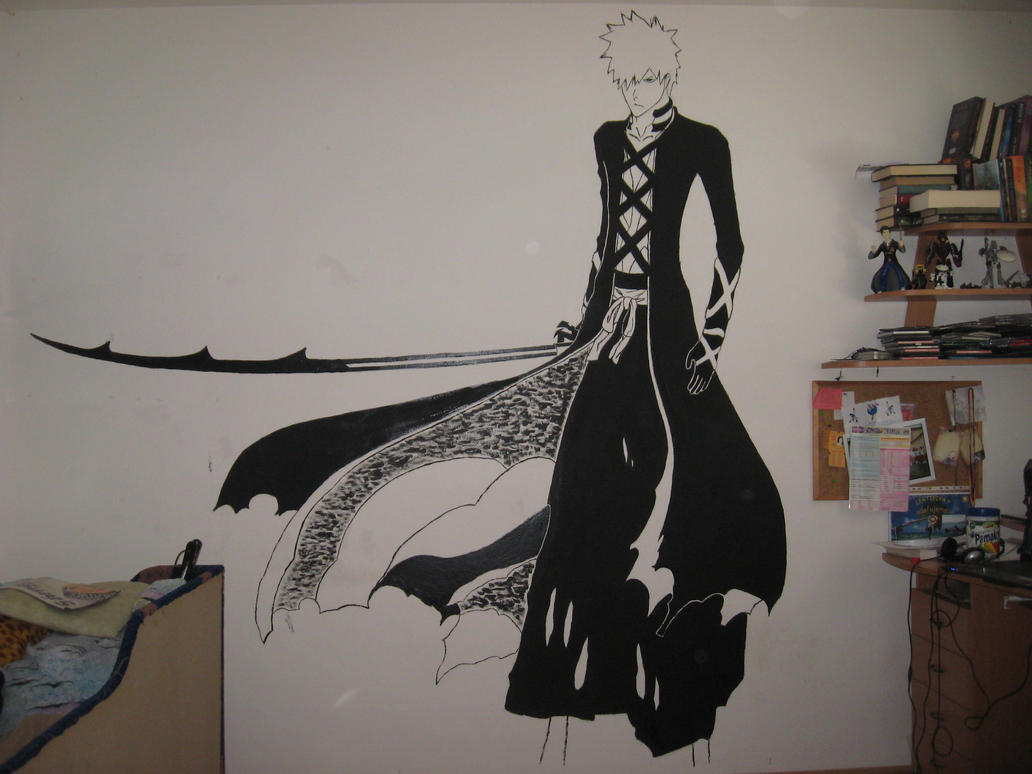 Ichigo's new bankai (wall painting) by chcipak