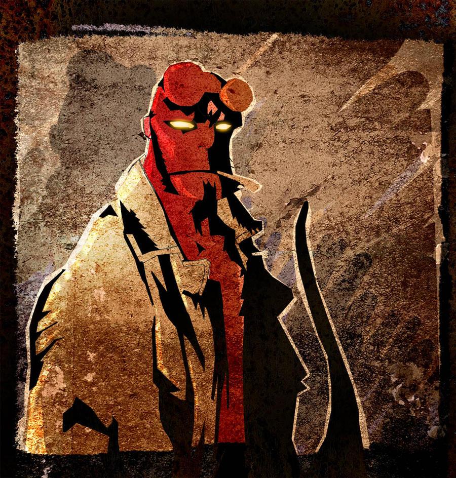 Hellboy sketch by fstarno