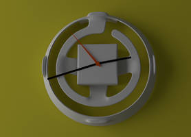 Wall clock for 3d printing by beothorn
