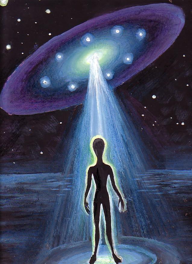 Alien astronaut and UFO by DeCORinASON on DeviantArt