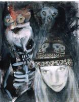 Self Portrait with Skeleton by Blackbirdmotel