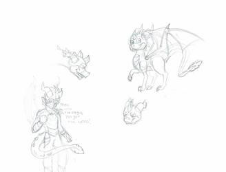 Spyro doodles! by enderman900