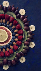 Fruit mandala - detail