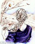 Inktober Day 3 - HAIRSTYLES: Autumnal Braid