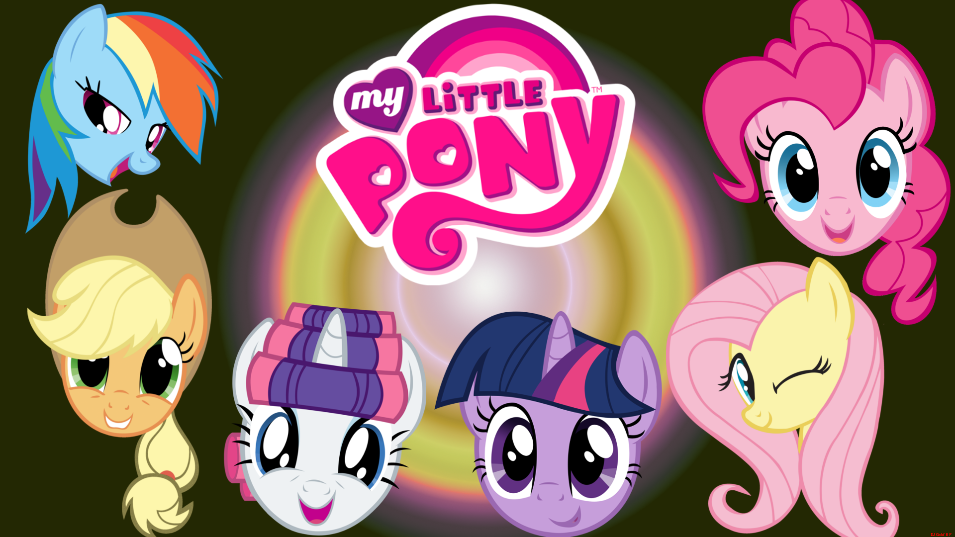 My Little Pony Wallpaper By Djgoldnf On Deviantart