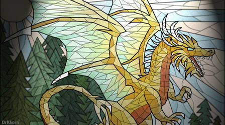 Golden dragon by DrKhorn