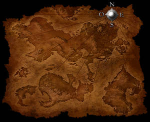 old map - creatures of legend