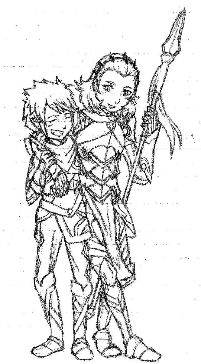 Kana and Sophie by SpikeyKoaLa