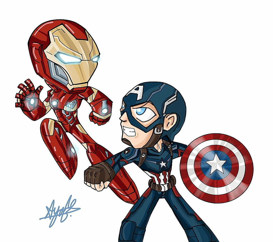 how to draw captain america civil war