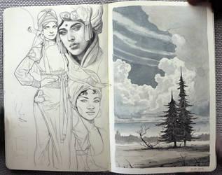 sketchessss by janaschi