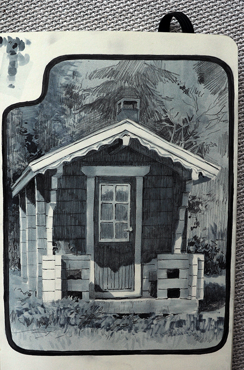 sauna sketch by janaschi