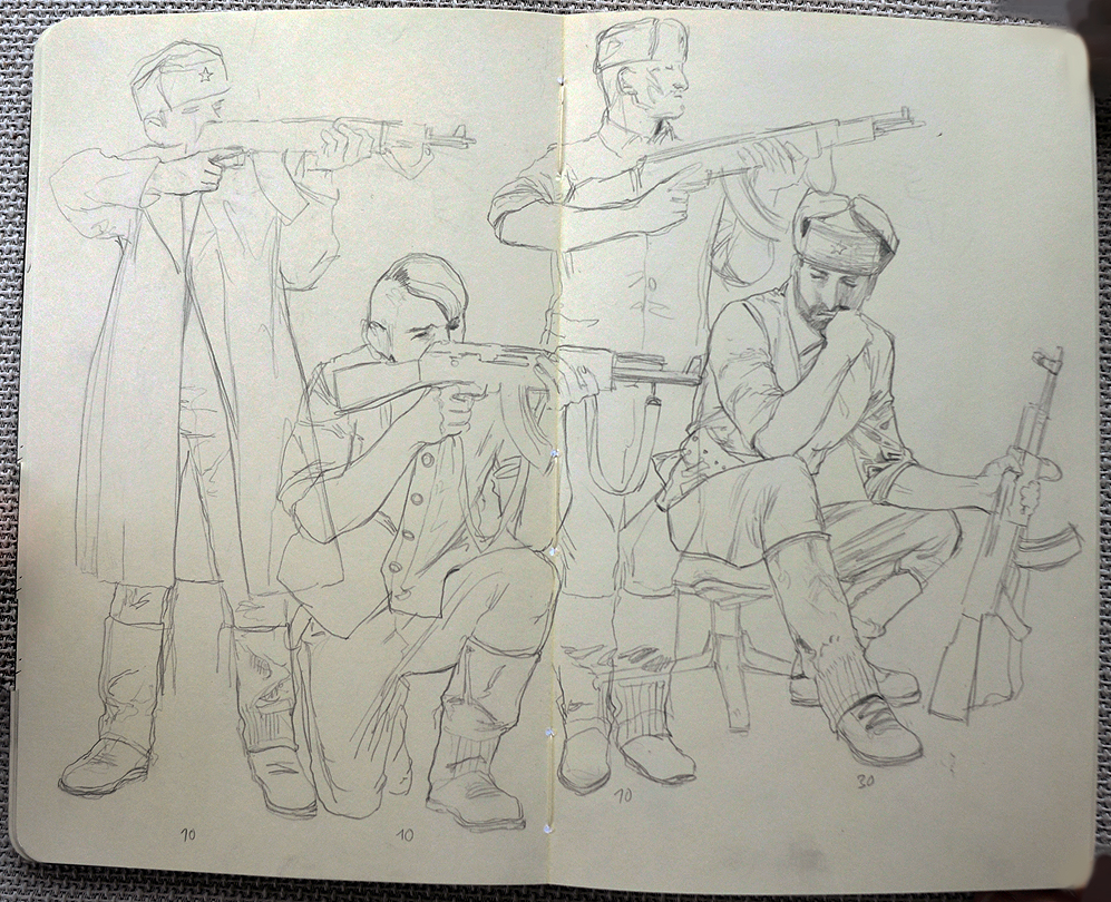 soldier sketches by janaschi