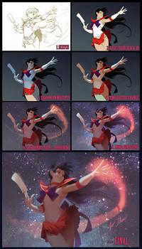 Sailor Mars steps