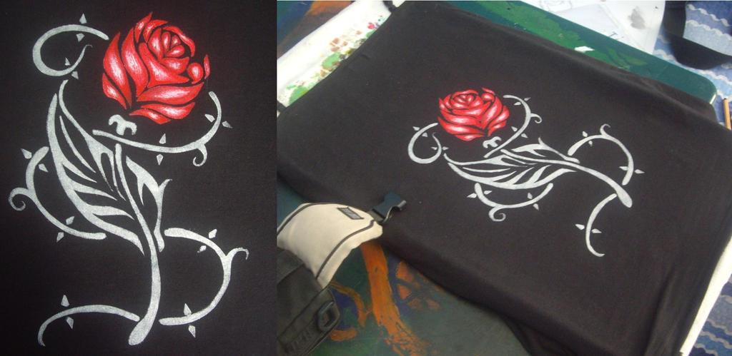 Gothic Silver Rose by BrainLessGirl
