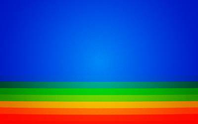 Lomo-back: Rainbowland Wallpaper by gabeweb