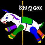 Carousel rainbow goat plush by Anabiyeni