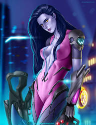 Fanart Overwatch - Widowmaker by AJengdi