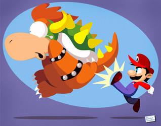 Mario Super Kick by Captain-Paulo