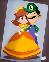 Daisy and Luigi by Captain-Paulo