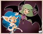 Felicia and Morrigan