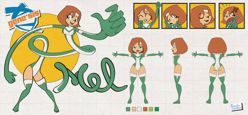 Model sheet - Mel by Captain-Paulo