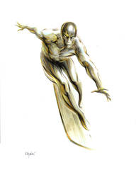 WHERE SOARS THE SILVER SURFER!