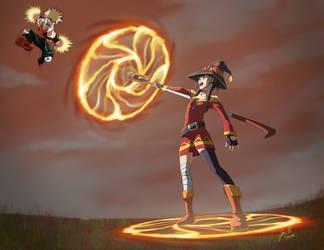 Megumin vs Bakugo by luizhtx