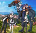 Kazuma kindly helps Aqua mount