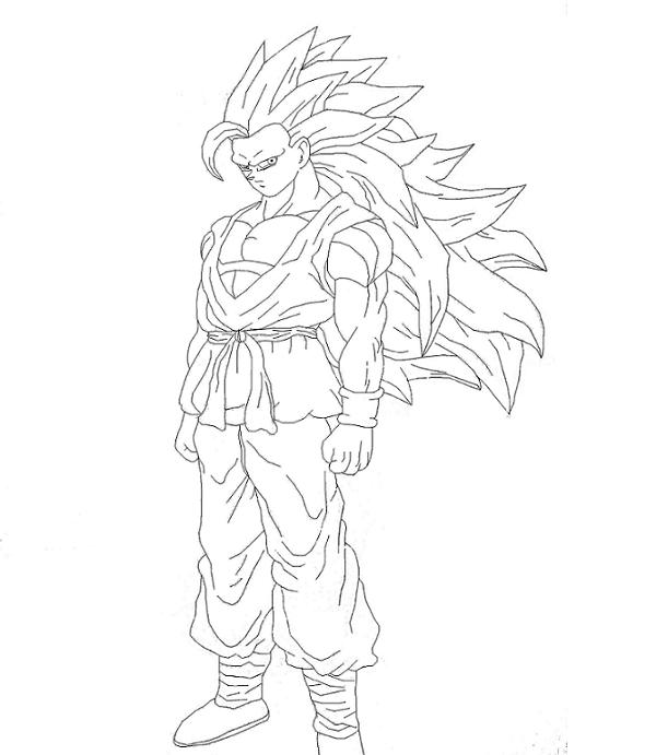 Dibujos Para Colorear Dragon Ball Z Goku Ssj4 ~ Ideas Creativas ...