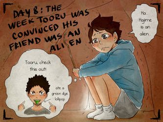 Day8: the week tooru was convinced... by Nerrianah