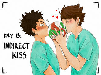 Day13: indirect kiss by Nerrianah