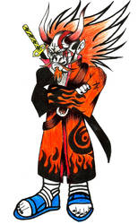 el maestro de los 6 caminos ridoku sennin by charrytaker