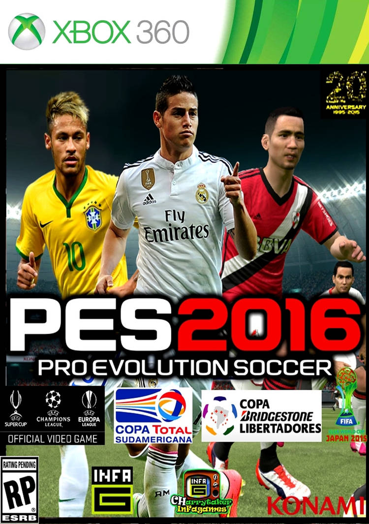Pes 2016 caratula james xbox 360 by charrytaker on DeviantArt