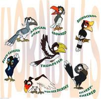 Hornbills by Akril15