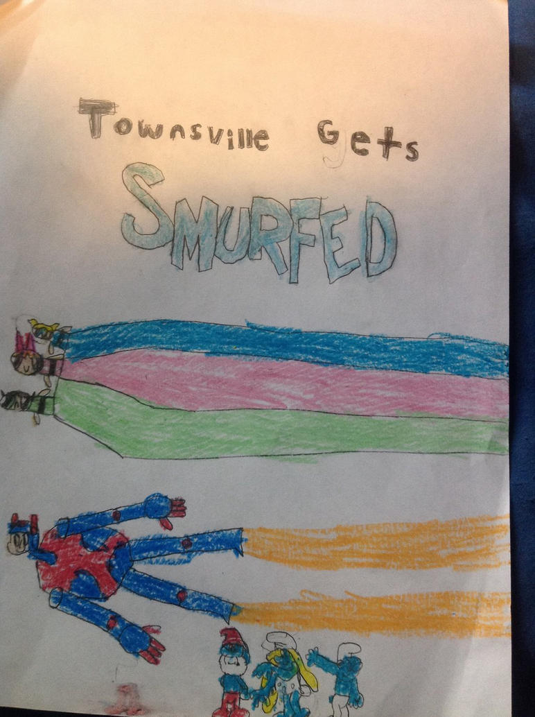 Townsville Gets Smurfed Cover by JacobDSArt