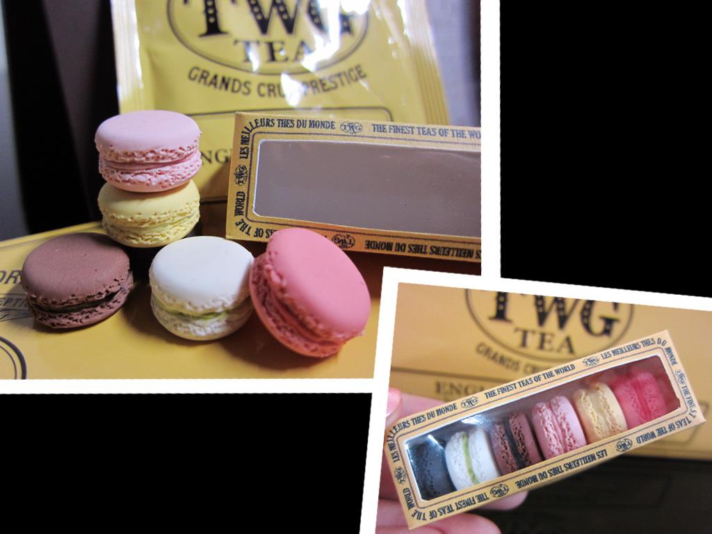 mini TWG box of 6 macarons by tehKOTAK