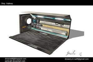 Ship Hallway Concept. by partical0