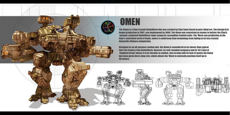 Mechwarrior Omen redesign by partical0