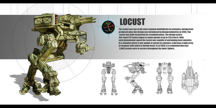 Mechwarrior locust redesign by partical0