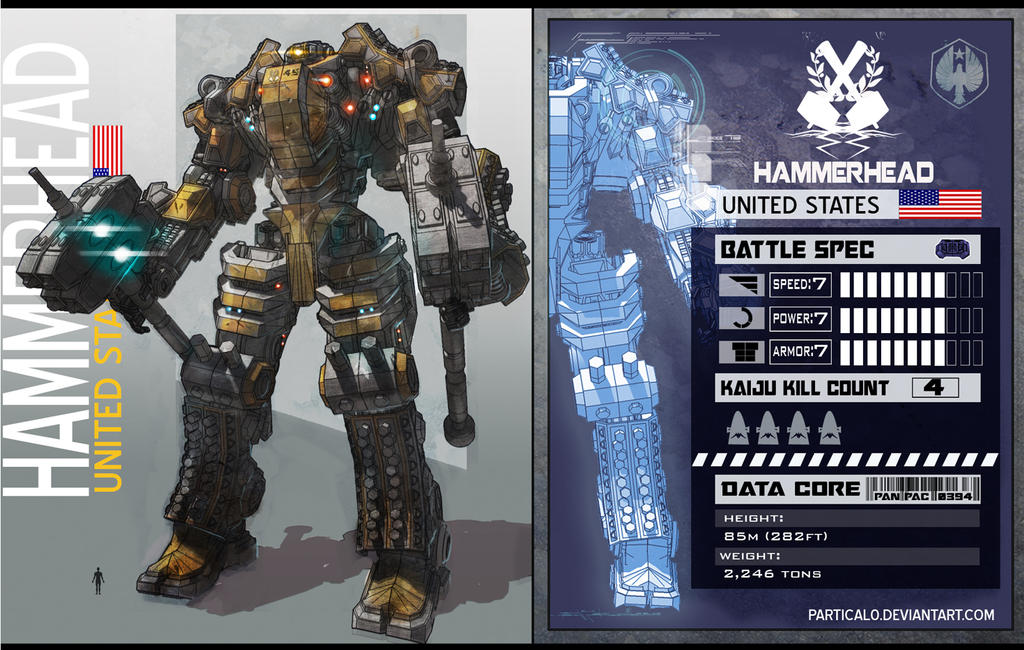 PACIFIC RIM JAEGER HAMMERHEAD FAN ART by partical0