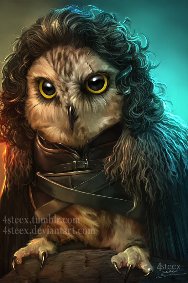 Game of Owls - Jon Snowl by 4steex