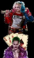 Commission: Joker and Harley Quinn tattoo design
