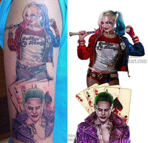 Joker and Harley Quinn ,Tattoo pic by 4steex