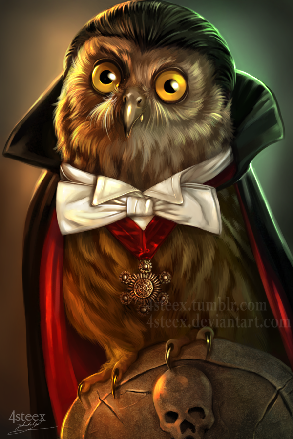 Owloween 2016 - Count Dracuowl by 4steex