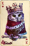 commission: king of hearts owl