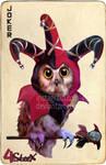 commission : Joker owl Card