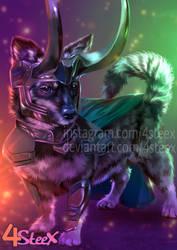 Commission: Loki dog