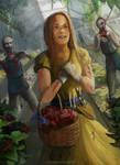 Zombie apocalypse florist by sinho113
