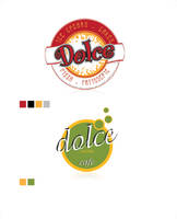 dolce cafe patisserie logo by crossbow
