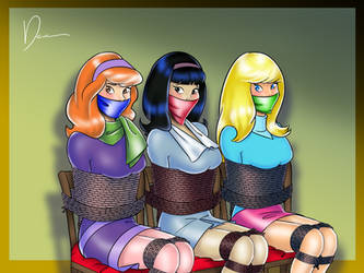 Daphne  Suzie And April Abducted By Deaart-d63uiga by Godzilla713